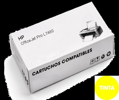 Cartuchos de TINTA COMPATIBLE para HP OfficeJet Pro K8600 Amarillo 88XL, C9393