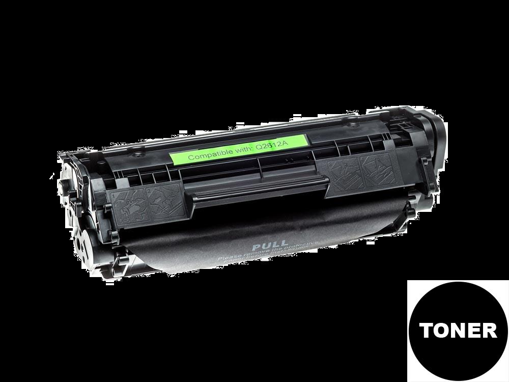 Cartuchos de TONER COMPATIBLE para HP LaserJet M1005 mfp Negro Q2612A, 12A